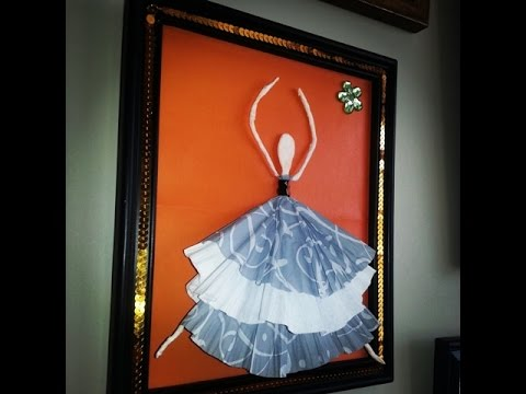 Diy 3d wall art inexpensive wall art youtube for Diy 3d art