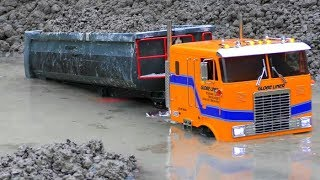 RC TRUCK SINK IN THE GROUNDWATER! CRAZY RC ACTION AND HEAVY TRUCKS! COOL RC  VEHICLES IN THE MUD