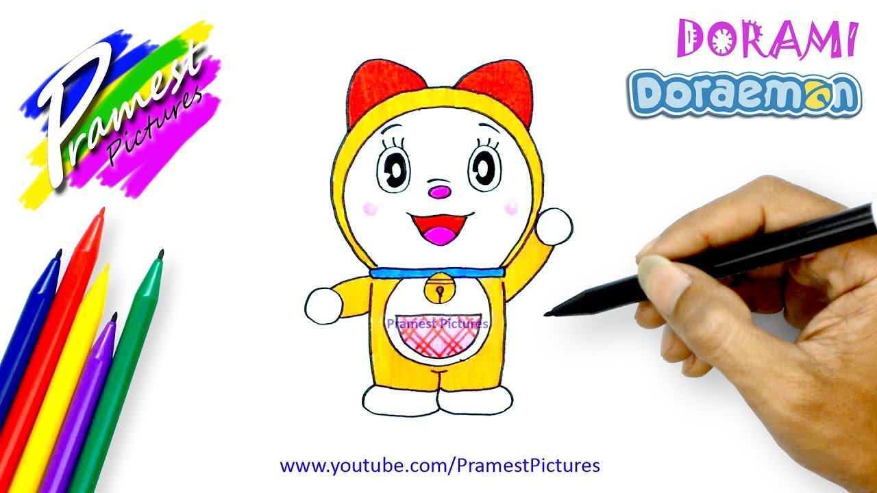 Contoh Sketsa Gambar How To Draw Dorami Doraemon Coloring Pages For Kids