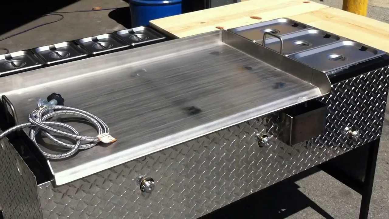 1 plancha con 3 vaporeras y 2 mesas con 4 charolitas youtube - Planchas para cocinar a gas ...