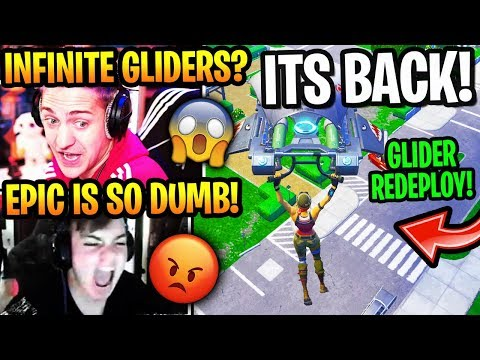 """Streamers React to *OG* """"GLIDER RE-DEPLOY"""" *BACK* in Fortnite Season 10 (UNLIMITED GLIDERS)"""