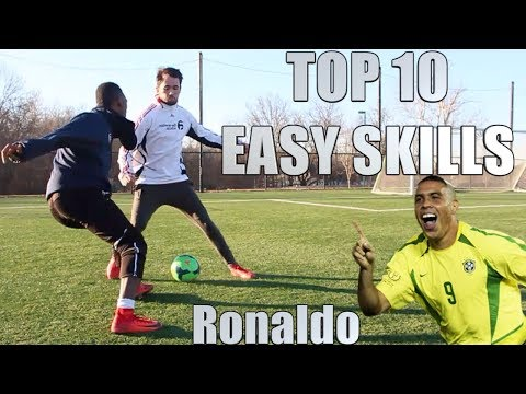 10 EASY SKILL MOVES TO BEAT DEFENDERS REAL RONALDO STYLE