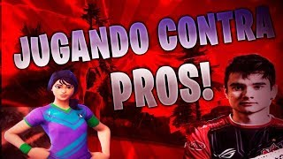 PLAYING AGAINST PRO PEOPLE IN FORTNITE!
