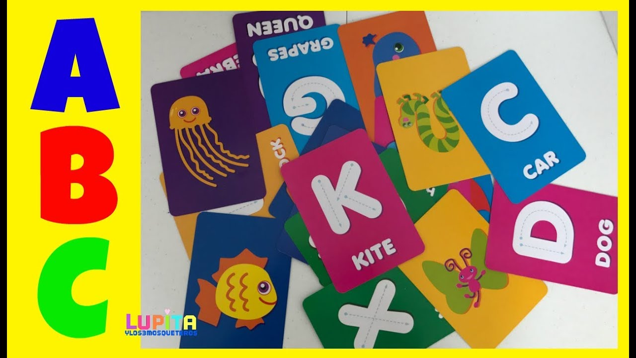 ABC Tracing Cards Learning my Alphabet letters with Colorful Cards
