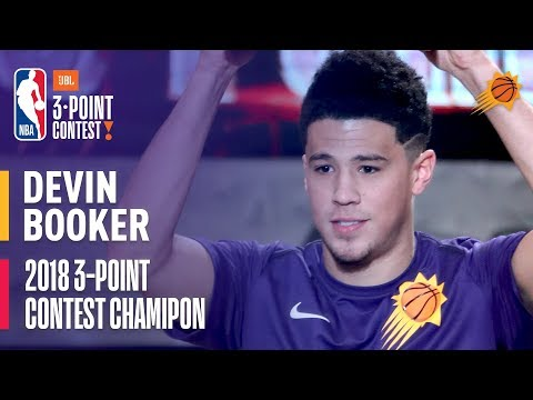 Devin Booker Wins the 2018 JBL Three-Point Contest | Record Setting Round with 28 3