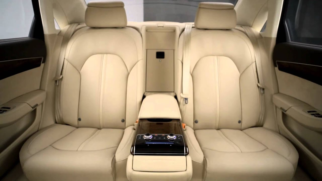 2011 audi a8 rear seating youtube. Black Bedroom Furniture Sets. Home Design Ideas
