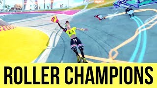 ROLLER CHAMPIONS Exclusive Gameplay - New Rocket League???