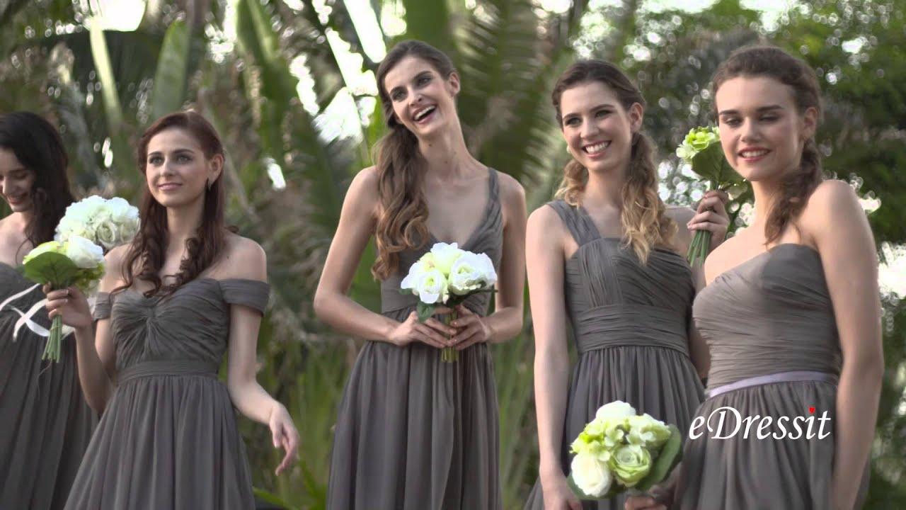 Grey bridesmaid dresses youtube grey bridesmaid dresses ombrellifo Images