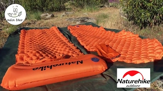 Naturehike Ultralight Colchonetas Pads NH17T023-T vs NH17T024-T (subtitles)