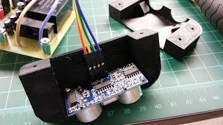PIC18F2550 Ultrasonic Projector Screen Detector DIY Electronics 3D CNC PCB Project