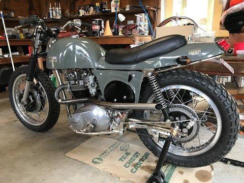 Rickman Metisse Mk3 1974 Bonnie T120V Start up & Ride