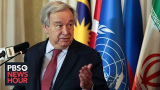 UN secretary-general decries lack of global cooperation to beat pandemic The coronavirus pandemic has struck the globe during an era of massive refugee crises, confrontation among the world's great powers and armed conflicts in ..., From YouTubeVideos
