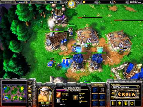 EmalFan (HU) vs Worker (Orc) - WarCraft 3 - Showcase Match- WC458