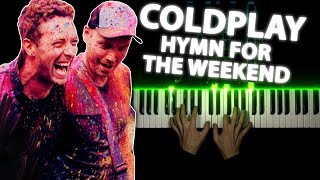 Coldplay - Hymn For The Weekend | Piano cover видео