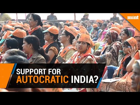 Has support for autocratic rule grown in India?