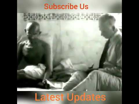 Mahatma Gandhi First Television Interview In 1931