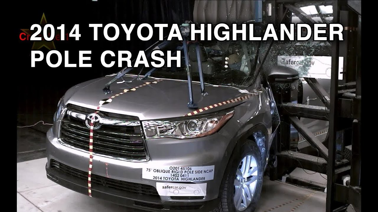 2014 toyota highlander pole crash test crashnet1 youtube. Black Bedroom Furniture Sets. Home Design Ideas