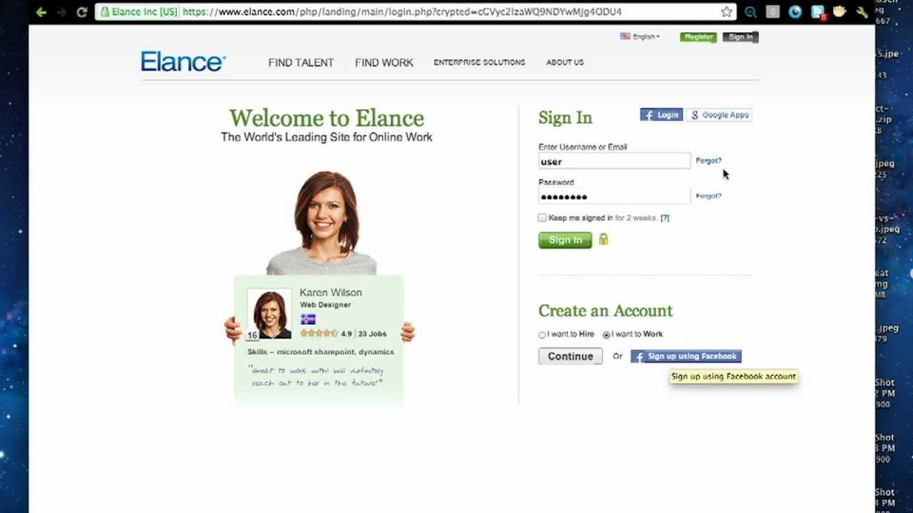 Elance Freelancing Platform for Remote Jobs
