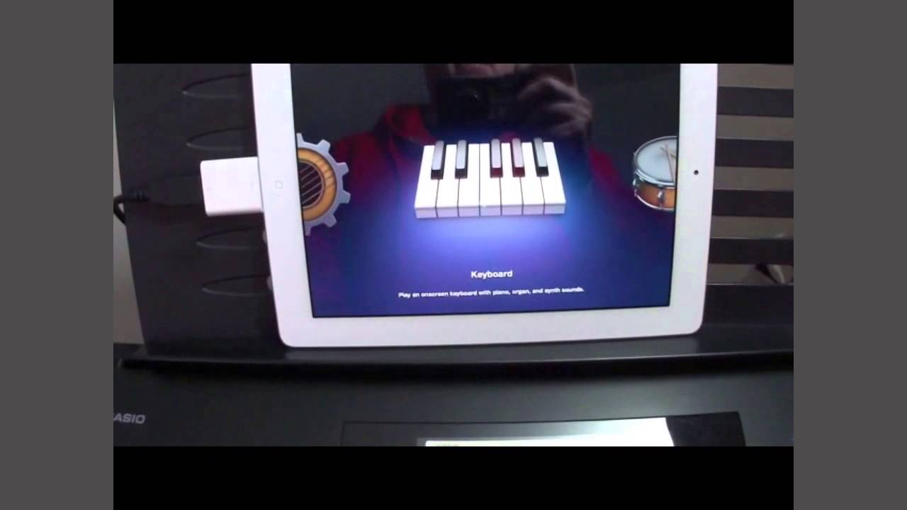 quick tip use your casio keyboard to control garageband on your ipad youtube. Black Bedroom Furniture Sets. Home Design Ideas