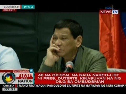 SONA: 46 na opisyal na nasa narco-list ni Pres. Duterte, kinasuhan na ng DILG sa Ombudsman