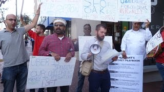 UBER Stop Lying And Cheating Us!  Drivers Protest At UBER World Headquarters In SF