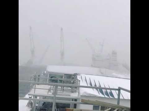 Winter Storm Grayson - Boston Harbor