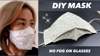 New Design DIY Face Mask Breathable MASK Mask Make it Easy NO FOG ON GLASSES