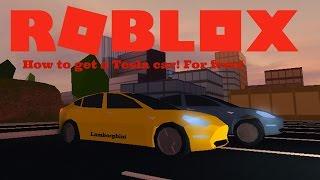 Roblox | Jailbreak (Beta) | How to get Tesla Car /Electric car Easy! 2017