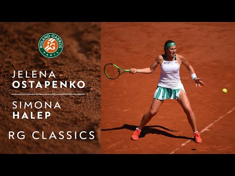 RG Classics - Jelena Ostapenko vs Simona Halep - 2017 | Roland Garros