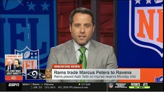 [BREAKING NEWS] Rams trade Marcus Peters to Ravens to placed Aqib Talib on injured reserve Monday