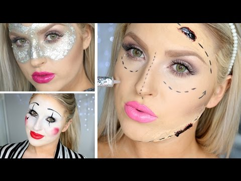 Last Minute Halloween Ideas ♡ 3 Makeup Looks! - YouTube
