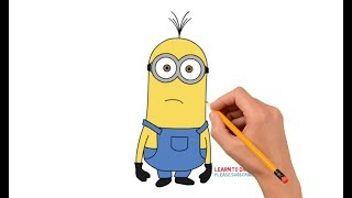 How to Draw a Minion Kevin Step by Step Easy For Kids