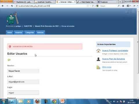 VideoTutorial 18 del Taller Práctico de PHP y MySQL