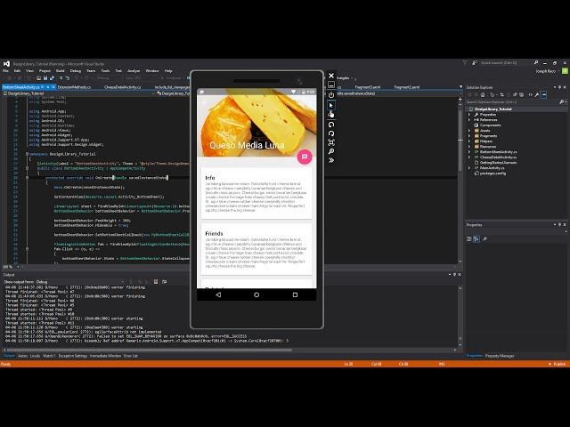 Xamarin Android Tutorial 84 Design Library Pt 6