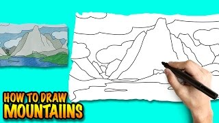 mountains draw mountain easy drawing step mount drawings kosciuszko sketch lessons snow learn