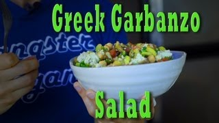 Raw Vegan Greek Garbanzo Salad Recipe | Jason Wrobel