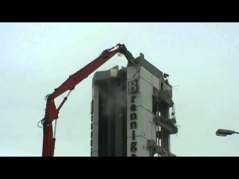 Brannigans office building demolition, Christchurch New Zealand