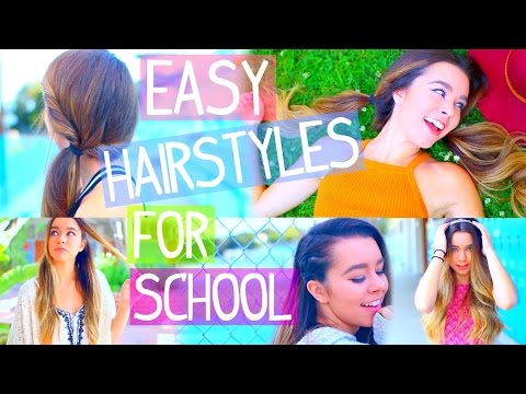 5 Insanely Easy Back To School Hairstyles! + Outfits!, #Backtoschool