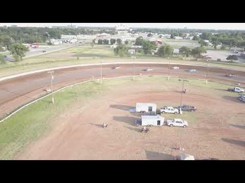 Enid speedway late models heat#1 7-7-18. - dirt track racing video image