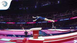 Natalie BRABCOVA (CZE) - 2018 Artistic Gymnastics Europeans, junior qualification vault