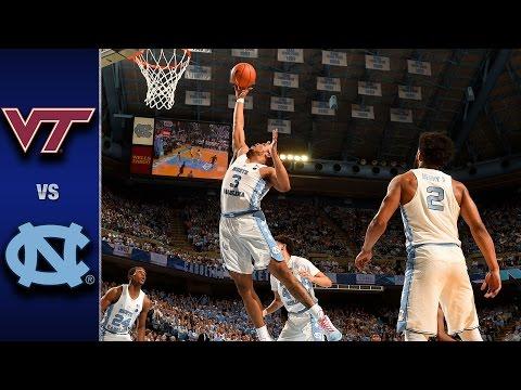 Virginia Tech vs. North Carolina Men's Basketball Highlights (2016-17)