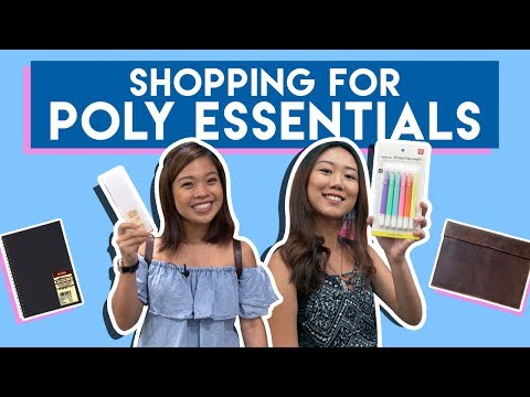 SHOPPING FOR POLY ESSENTIALS + GIVEAWAY! | PrettySmart