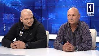 Сергей Криницкий – тренер СК «КБ-75», Игорь Шевадзуцкий – боксёр СК «КБ-75»