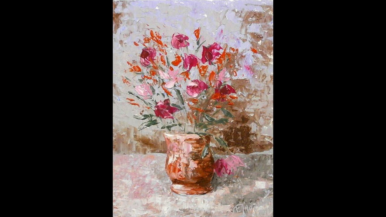 Crea n a 1115 flowerpot oil for Fiori ad olio