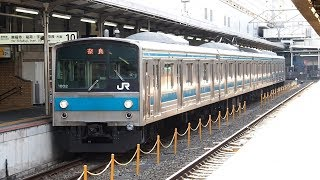 2019/03/31 奈良線 205系 NE406編成 京都駅 | JR West Nara Line: 205 Series NE406 Set at Kyoto