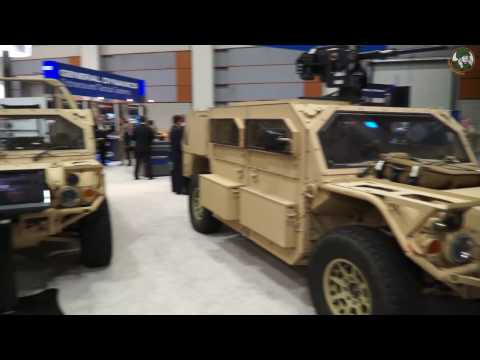 Flyer 72 with armour kit Advanced Light Strike Special Forces Vehicle General Dynamics AUSA 2016 Uni