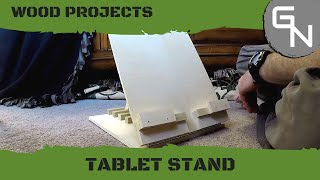 Diy - Wooden Adjustable Tablet Stand