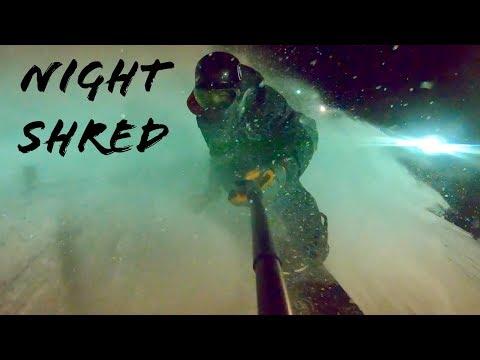 SNOWBOARDING AT NIGHT!! (KEYSTONE COLORADO) 2018