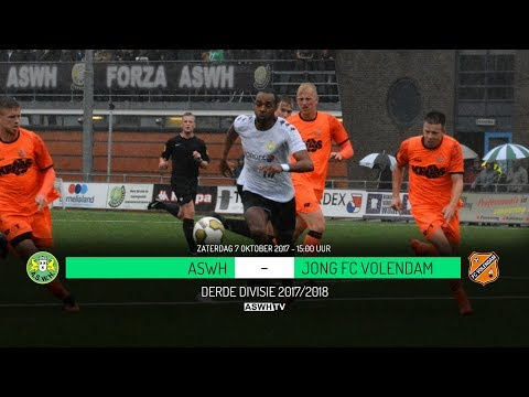 Doelpunten ASWH - Jong FC Volendam 0-5 (07-10-2017)