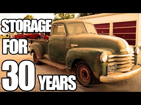 found a 1949 5 window Chevy 3100 truck in a storage shed
